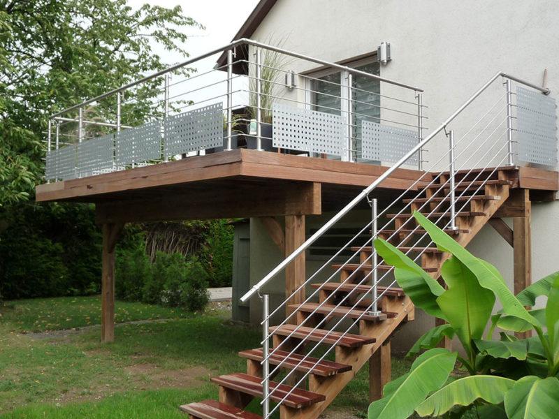 Garde-corps pour la terrasse
