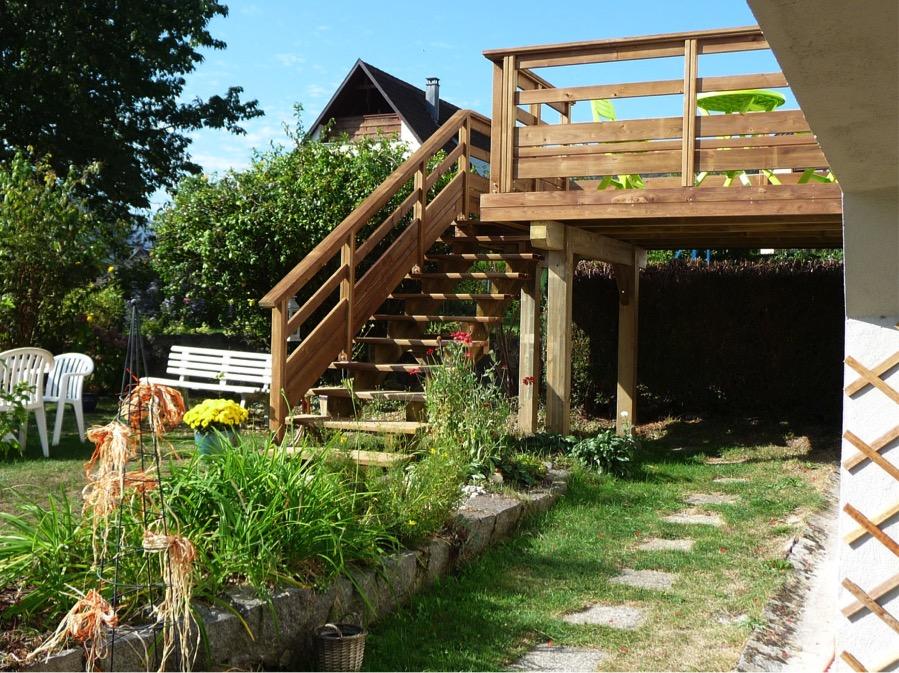 R alisation d 39 un escalier muhlbach sur munster 68 woodia for Gartengestaltung unterschiedliche hohen