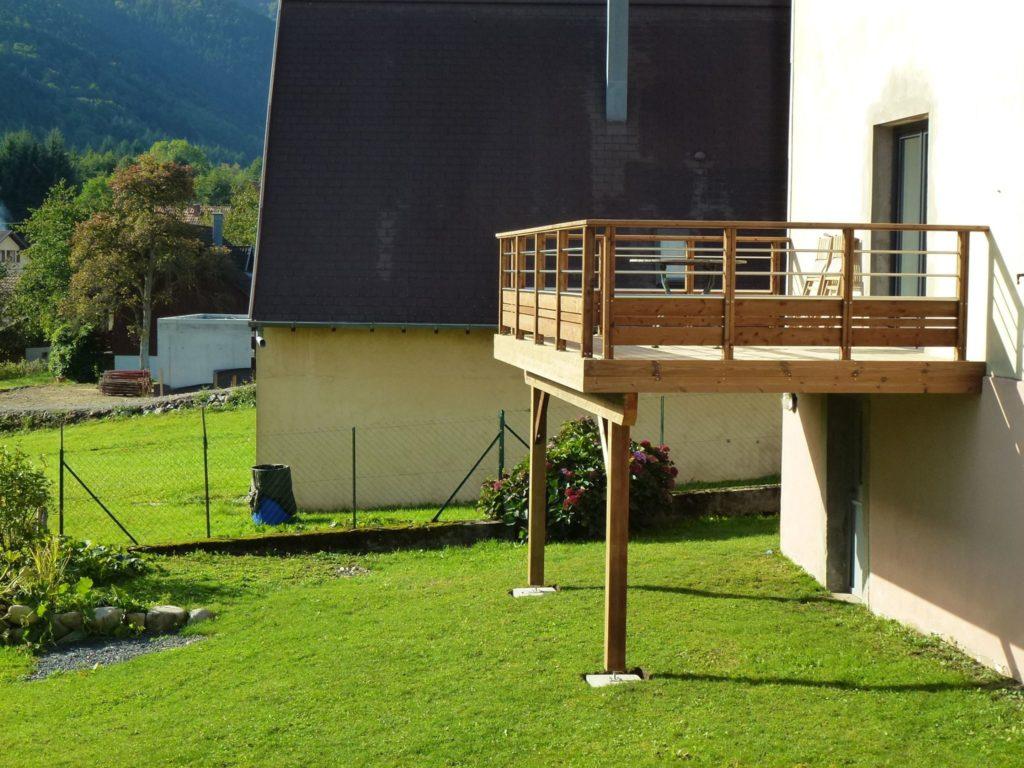 Couvrir Une Terrasse Permis De Construire terrasse sur pilotis, à quoi faut il veiller. le blog de woodia